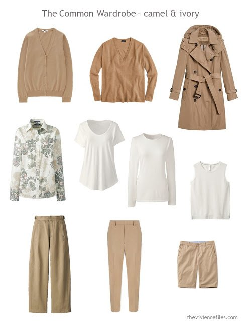A Common Wardrobe in camel with ivory