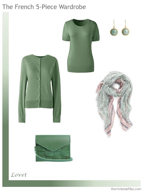 French 5-Piece Wardrobe in Lovet Green