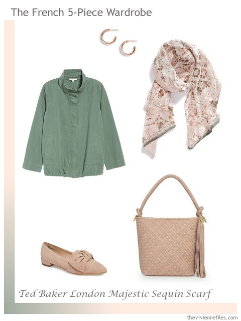 French 5-Piece Wardrobe in sage and blush