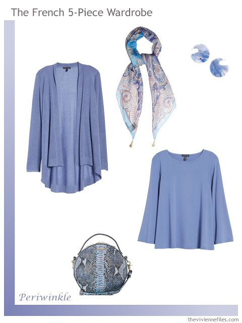 French 5-Piece Wardrobe in Periwinkle