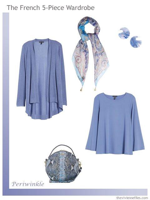 French 5-Piece Wardrobe in Periwinkle