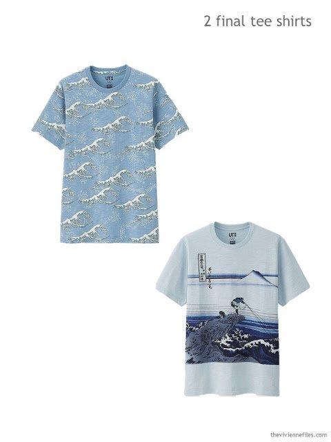 2 Hokusai themed tee shirts