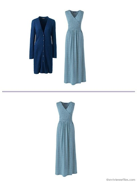 2 ways to wear a maxi dress from a spring and summer travel capsule wardrobe