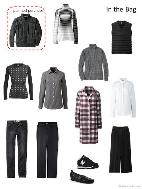 Ireland March 2018 travel capsule wardrobe