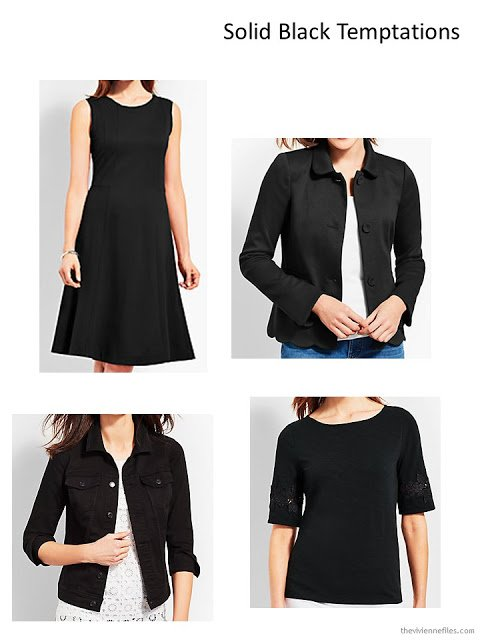 4 black garments from Talbots