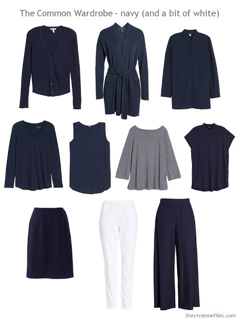 A Common Wardrobe in navy and white for spring