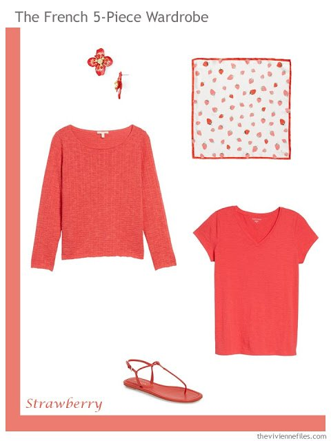 French 5-Piece Wardrobe in Strawberry