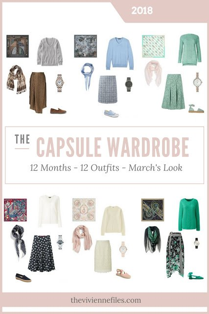 Build a Capsule Wardrobe in 12 Months, 12 Outfits - March 2018