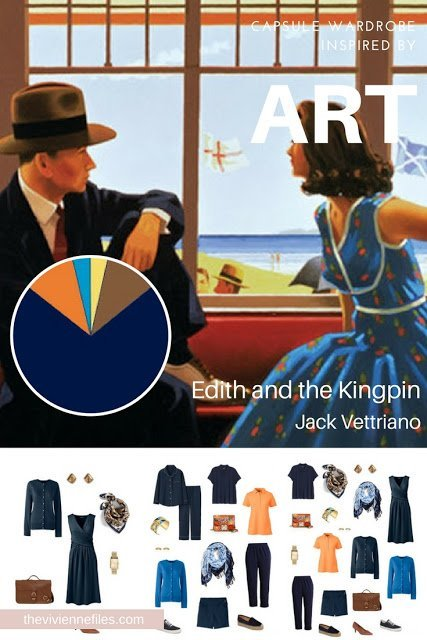 Building a Capsule Wardrobe by Starting with Art: Edith and the Kingpin by Jack Vettriano
