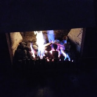 The fireplace in the dining room at The School House Hotel Dublin Ireland