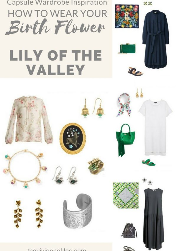 How to add the birth flower for May, Lily of the Valley, to your capsule wardrobe.