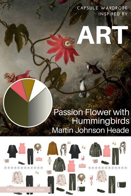 Passion Flower with Hummingbirds by Martin Johnson Heade, Revisiting a travel capsule wardrobe for Spring 2018