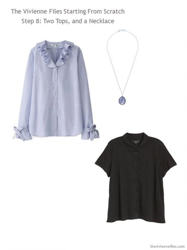 adding 2 tops and a necklace to a Step by Step Wardrobe