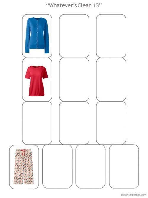 Whatever's Clean 13 template with 3 garments