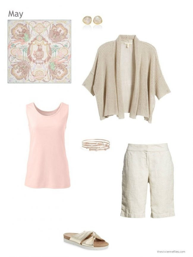 beige and blush summer outfit