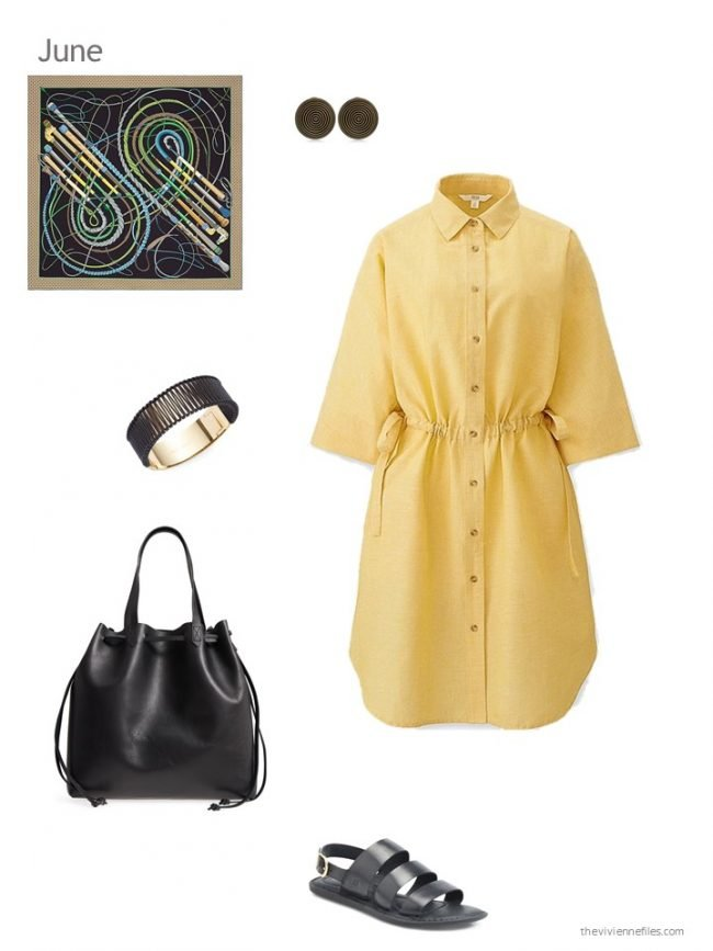 Adding a yellow dress to a capsule wardrobe