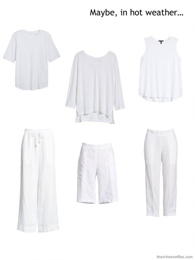 1. Six basic white garments for warm weather