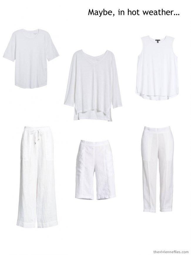 1. Six basic white garments for warm weather