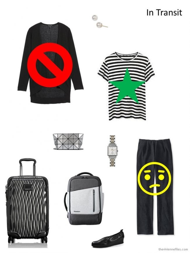 Reviewing a travel outfit