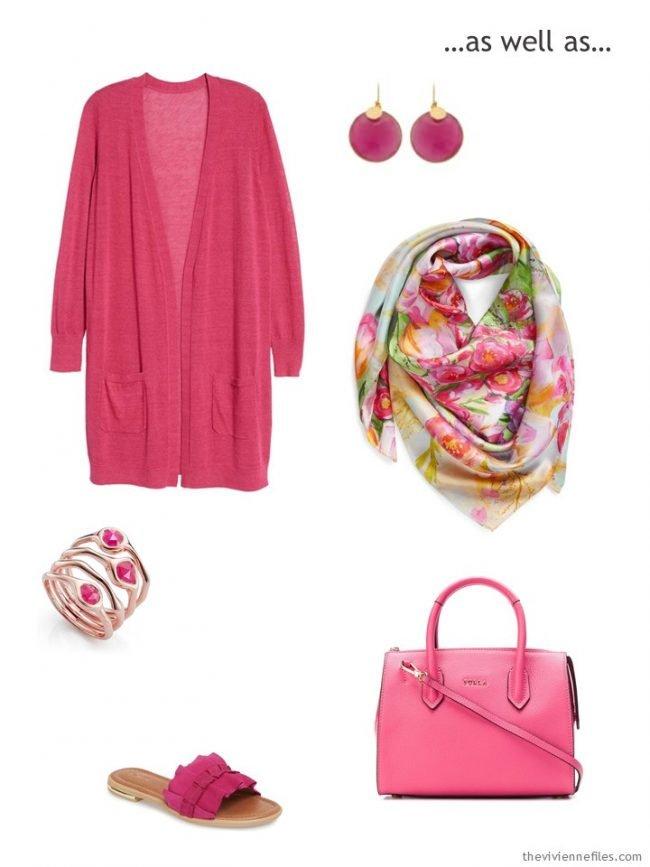 a hot pink accessory capsule