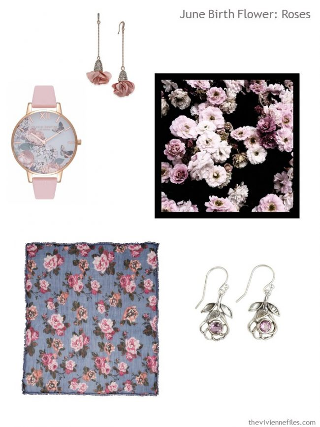 3. an accessory family with pink roses