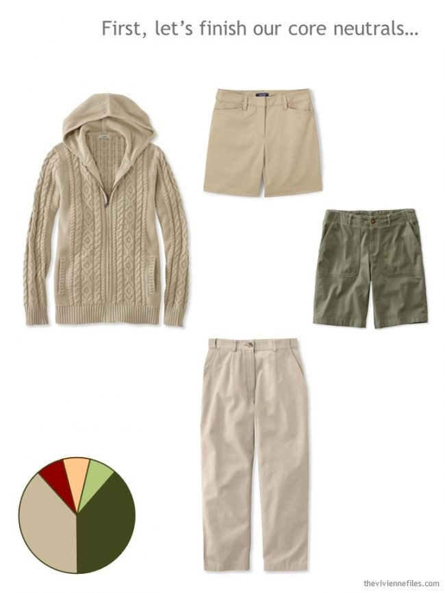 4. adding khaki and olive neutrals to a Whatever's Clean 13 wardrobe