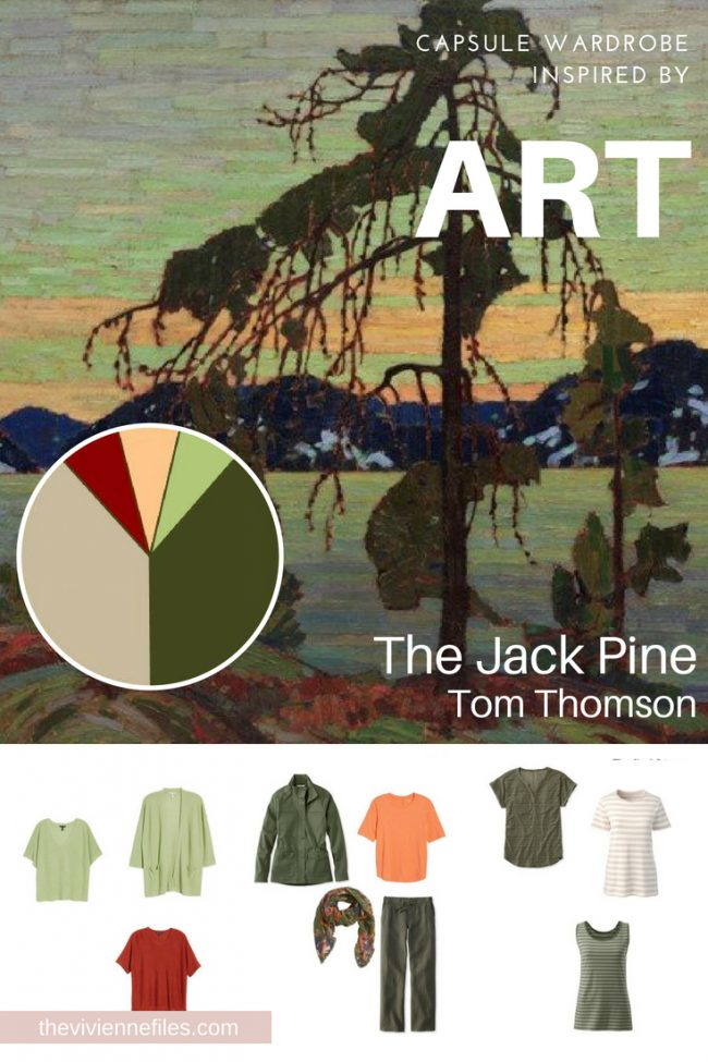 Building a Capsule Wardrobe by Revisiting Jack Pine by Tom Thomson