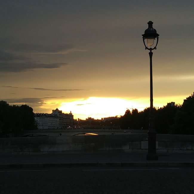Sunset over the Seine, Paris May 2018