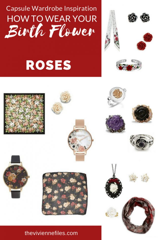 ADD ACCESSORIES TO YOUR CAPSULE WARDROBE WITH ROSES, THE BIRTH FLOWER FOR JUNE!