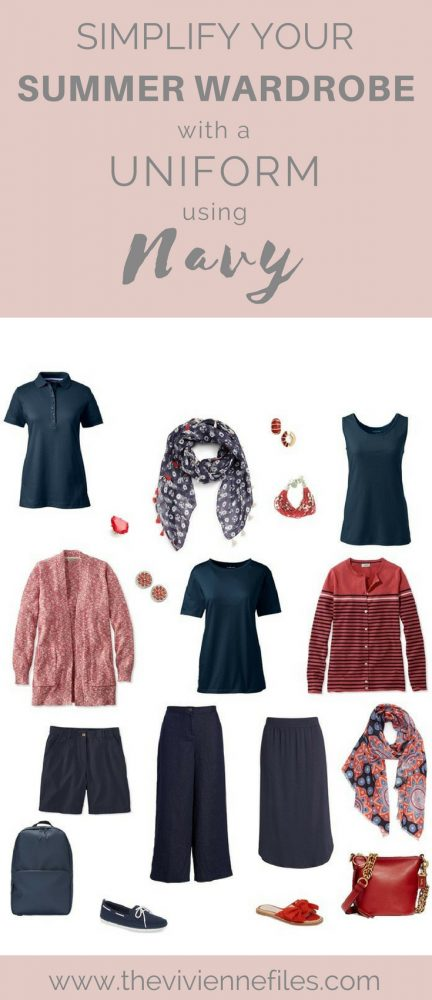 Wear a Uniform and Simplify your Summer Capsule Wardrobe – Using Navy as Your Neutral