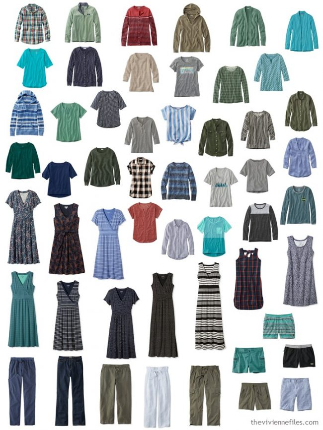 1. 53 piece wardrobe from L.L.Bean