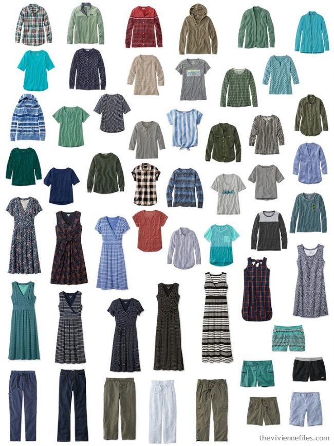 1. 53 piece wardrobe from L.L.Bean