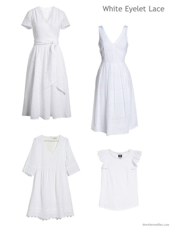 White eyelet lace garments