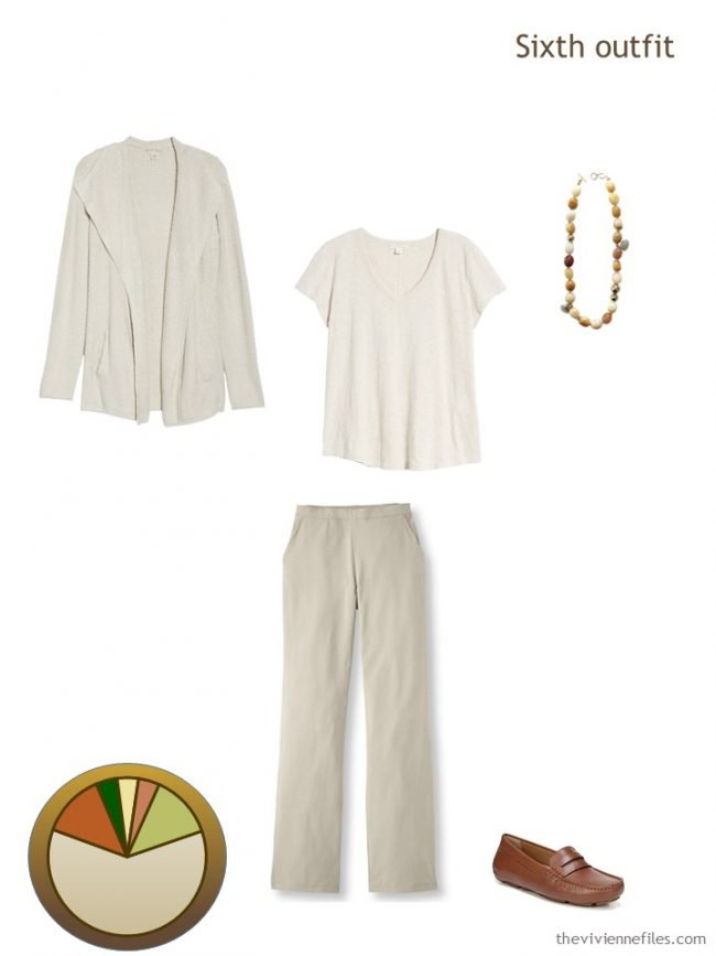 11. beige outfit from a travel capsule wardrobe