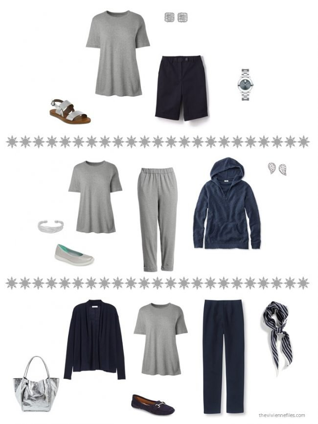 13. 3 ways to wear a grey tee shirt from a capsule wardrobe