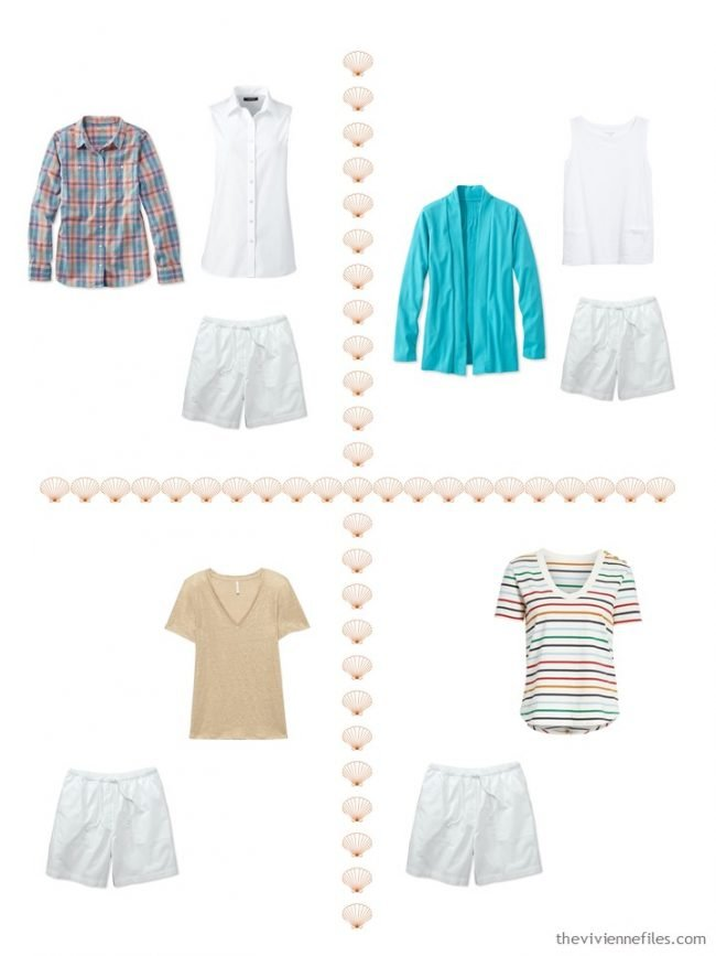 15. 4 ways to wear white shorts from a 4 by 4 Wardroe