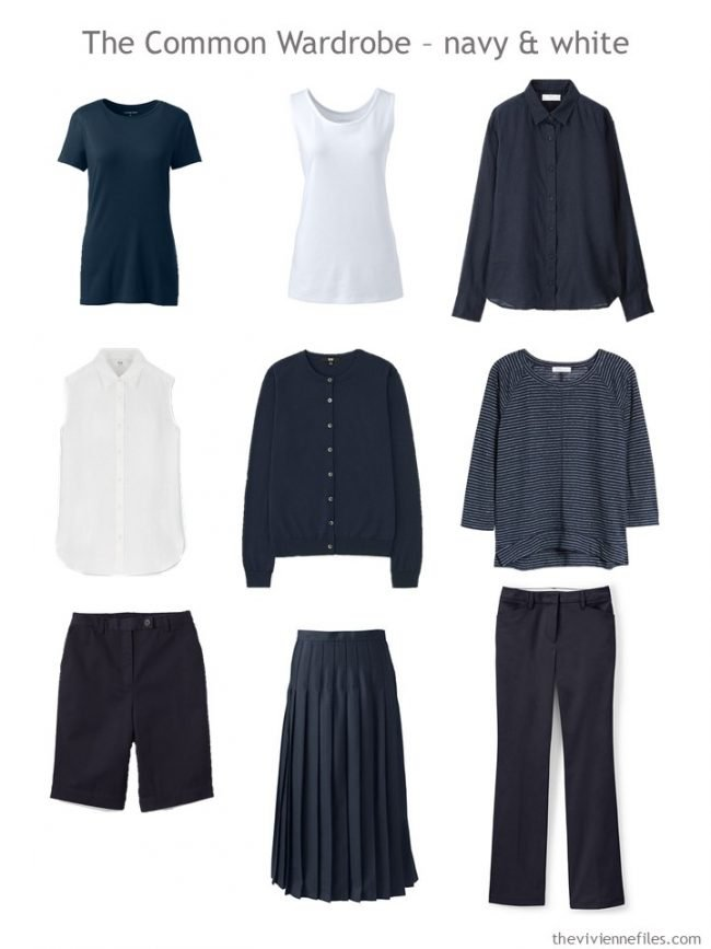 Common Wardrobe in navy and white