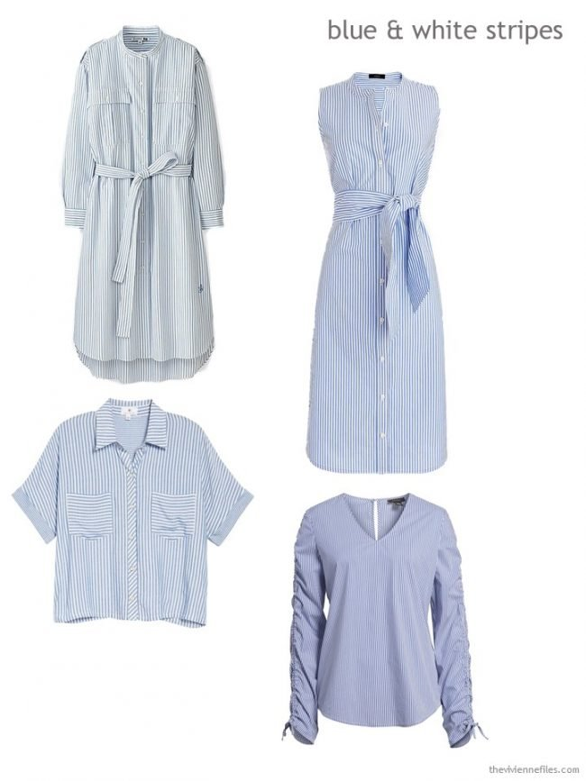 blue and white striped clothes