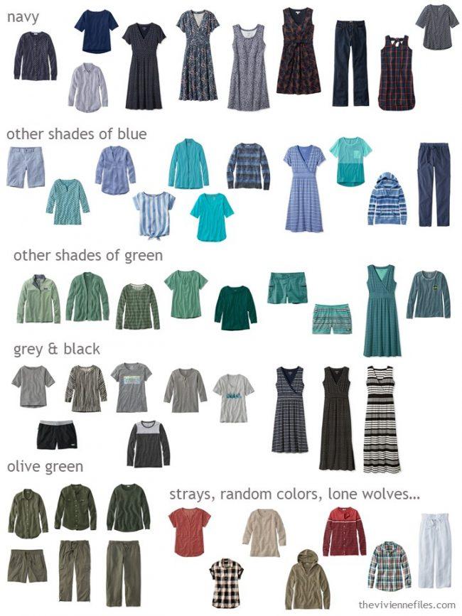 2. wardrobe sorted by color