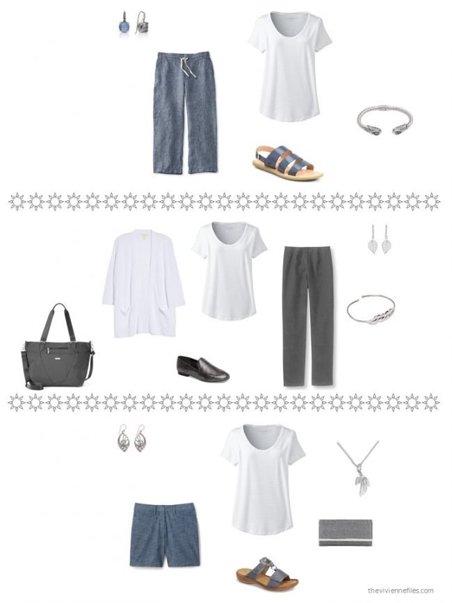 23. three ways to wear a striped tee shirt from a capsule wardrobe