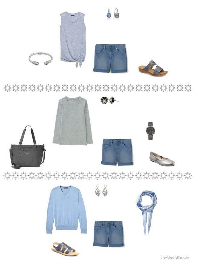 25. 3 ways to wear denim shorts from a capsule wardrobe