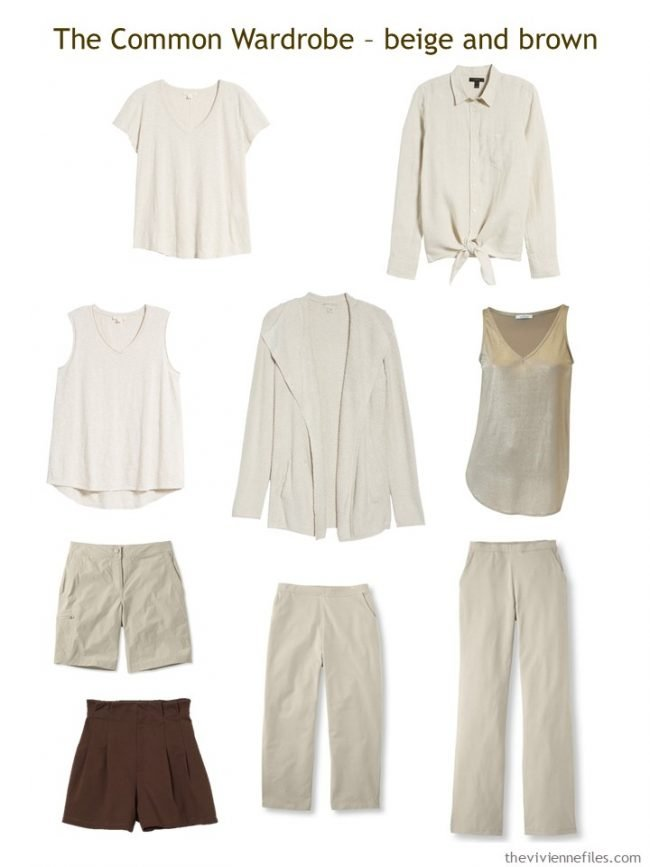 3. Common Wardrobe in beige with gold and brown