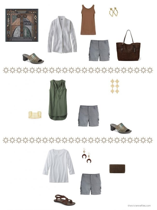 30. 3 ways to wear grey shorts from a capsule wardrobe