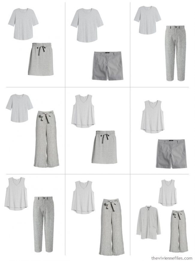 4. 9 outfits from A Common Wardrobe in grey