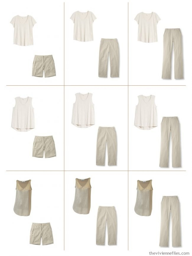 4. 9 outfits from a mostly beige Common Wardrobe