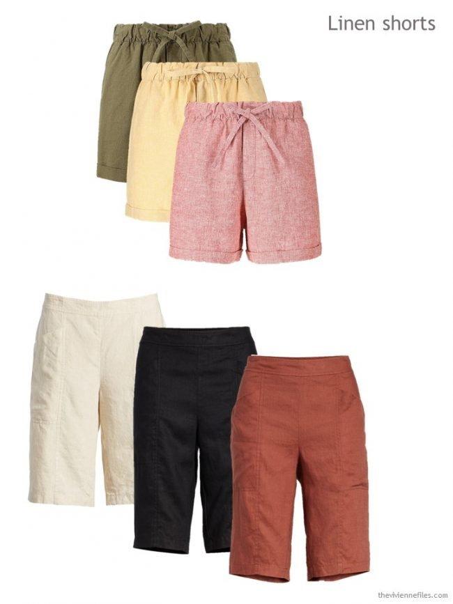 4. linen shorts