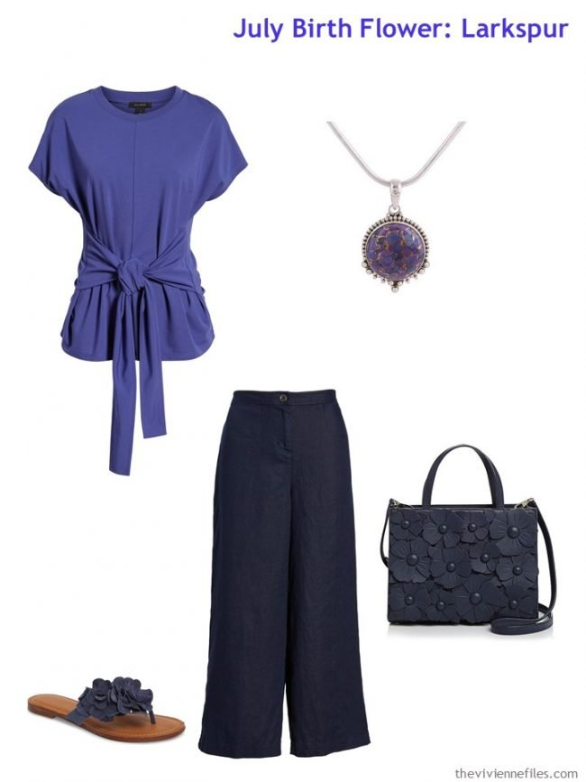 4. purple and navy business casual outfit