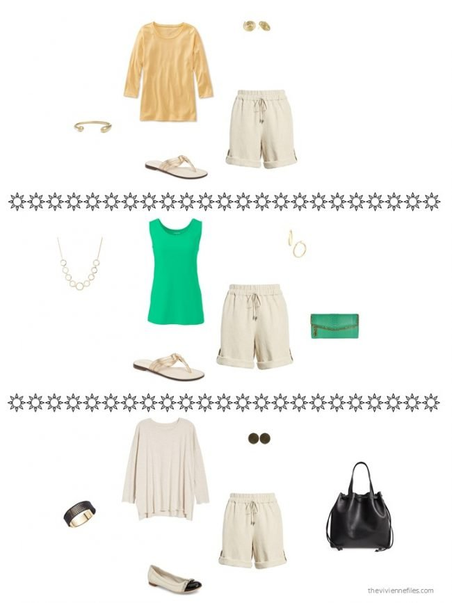 5. 3 ways to wear neutral shorts from a capsule wardrobe