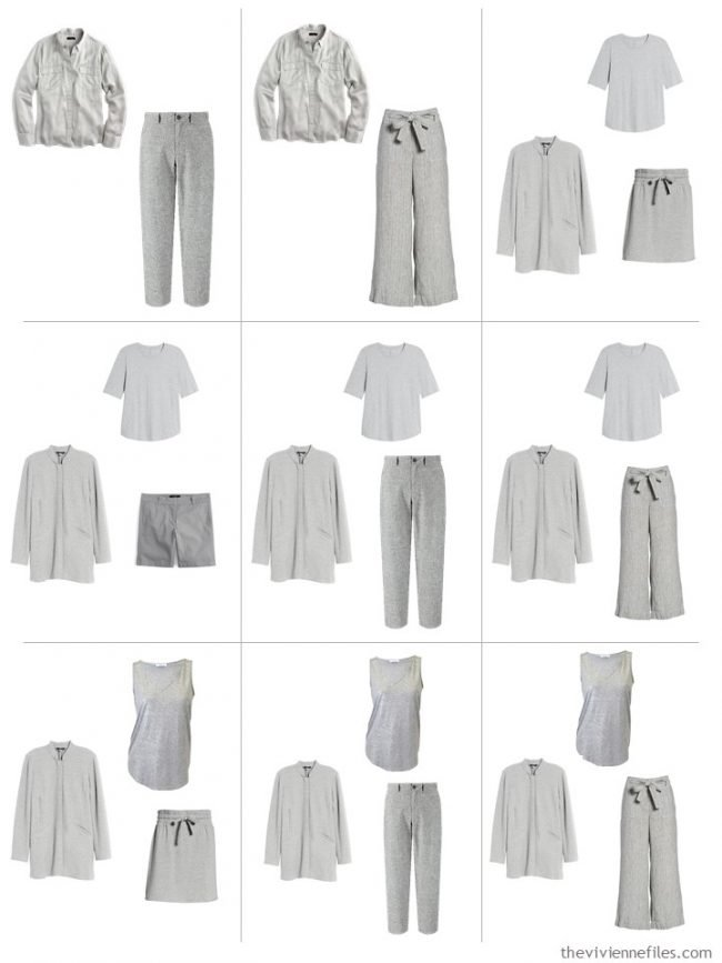 5. 9 outfits from A Common Wardrobe in shades of grey