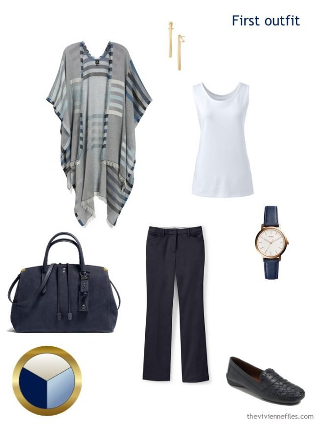 5. navy and white outfit